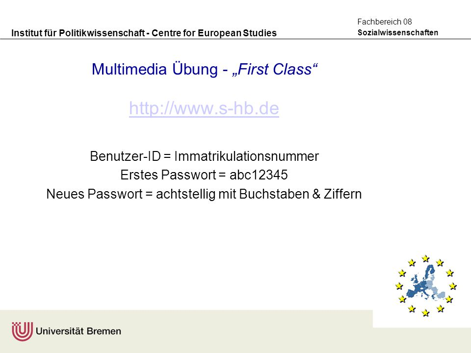 "Multimedia Übung - ""First Class"