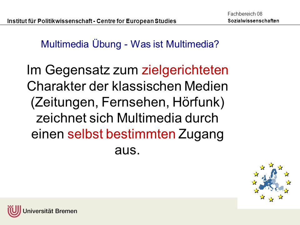 Multimedia Übung - Was ist Multimedia