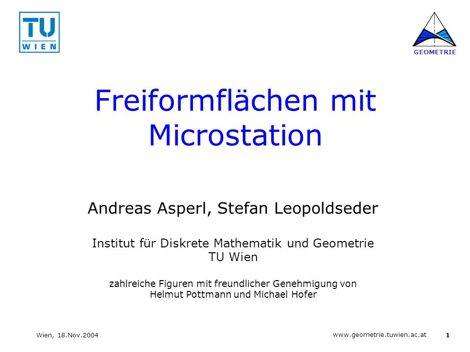 Freiformflächen mit Microstation