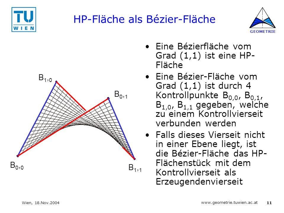 HP-Fläche als Bézier-Fläche