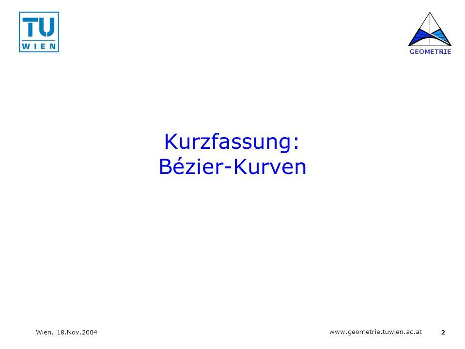 Kurzfassung: Bézier-Kurven