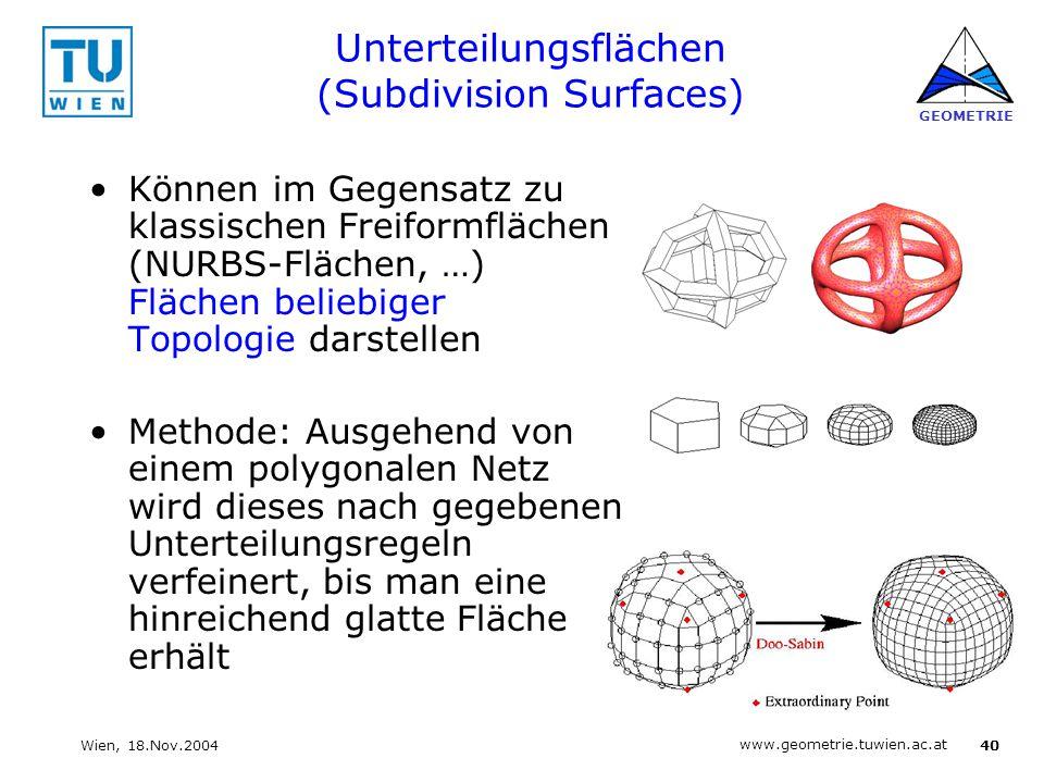 Unterteilungsflächen (Subdivision Surfaces)