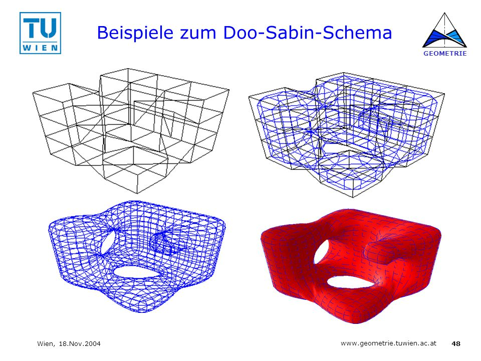Beispiele zum Doo-Sabin-Schema