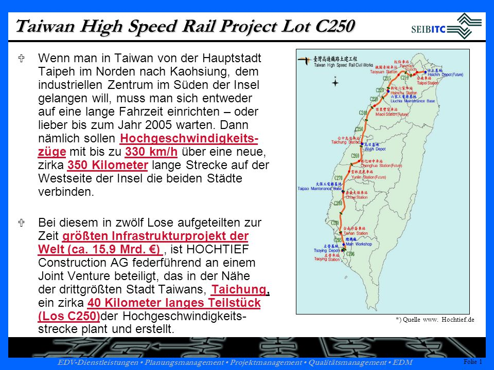 Taiwan High Speed Rail Project Lot C250