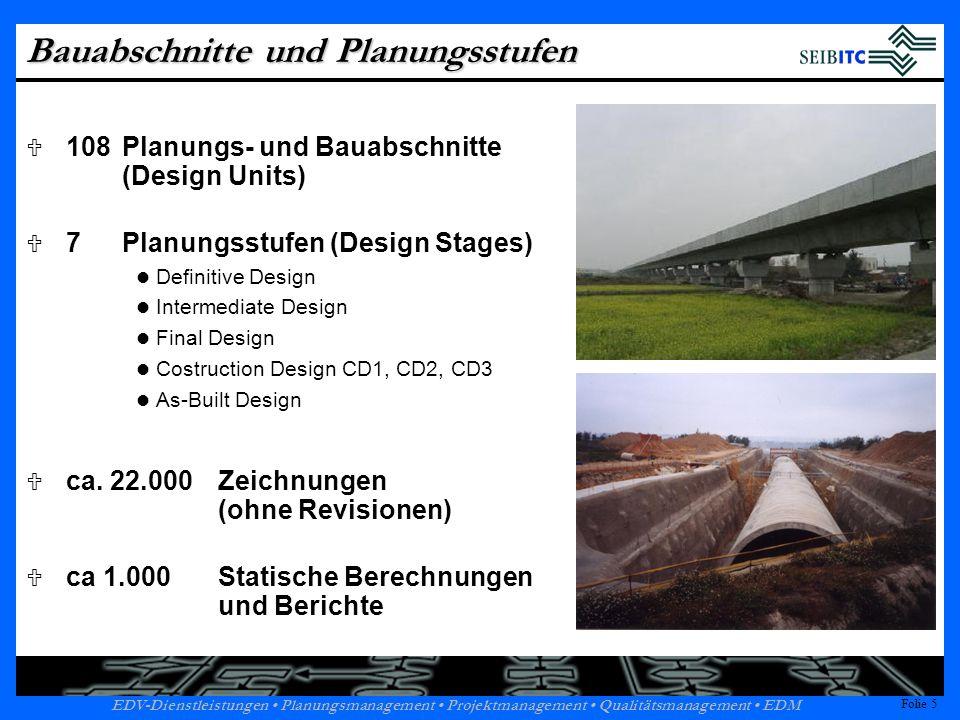 Bauabschnitte und Planungsstufen