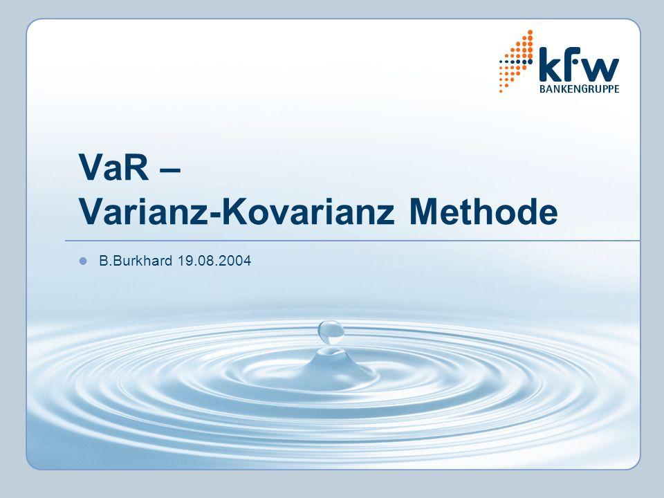 VaR – Varianz-Kovarianz Methode