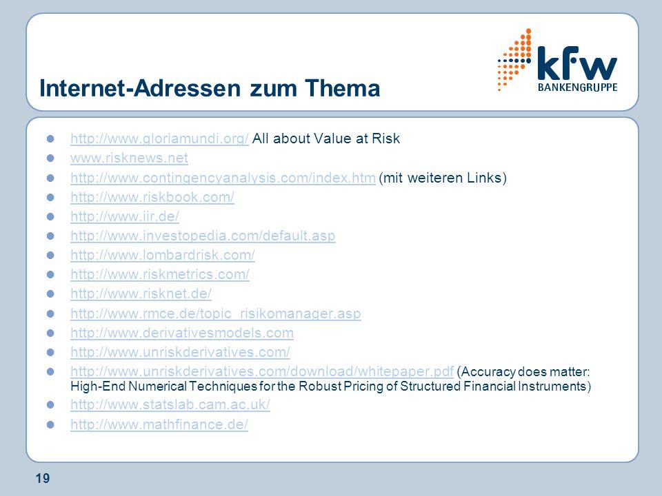 Internet-Adressen zum Thema