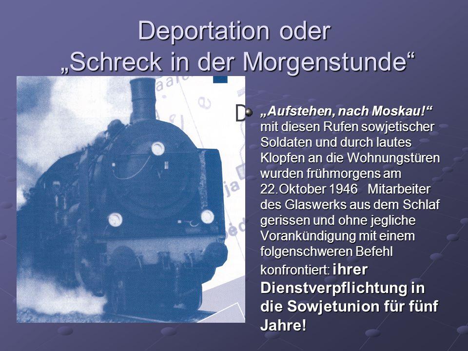"""Deportation oder """"Schreck in der Morgenstunde"""