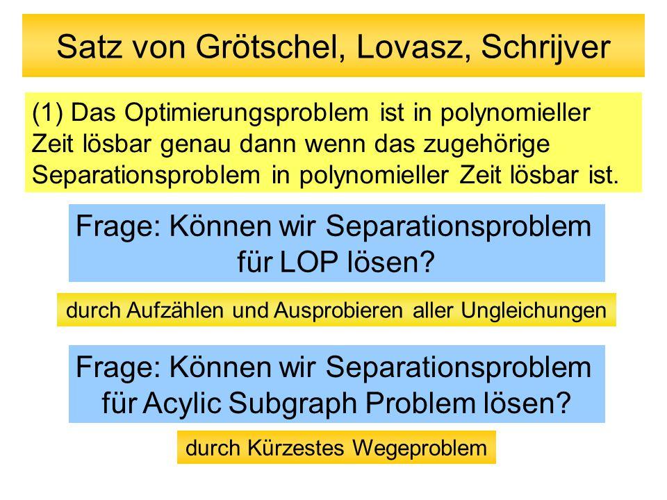 Satz von Grötschel, Lovasz, Schrijver