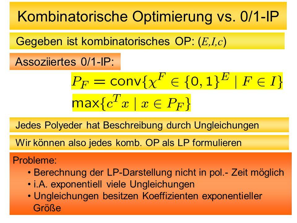 Kombinatorische Optimierung vs. 0/1-IP