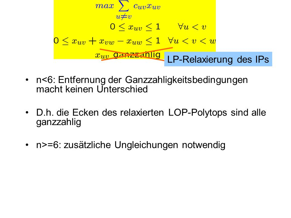 LP-Relaxierung des IPs