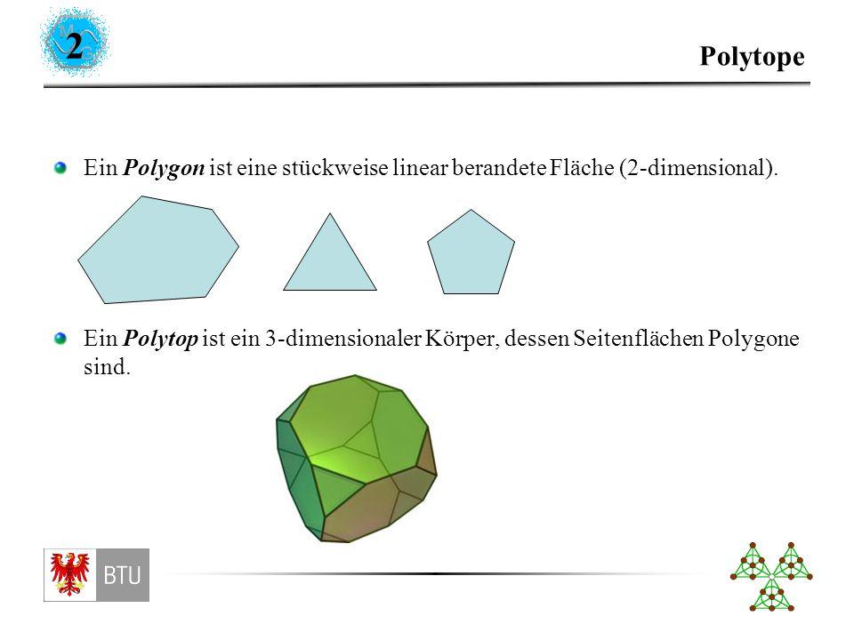 Polytope (Struktur) Kanten. Ecken. (Seiten-)Flächen.