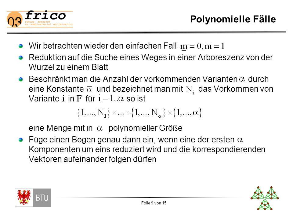 Polynomielle Fälle II N1-1 N2 N i1 1 N1 N2 N N1 N2 N-1  ix