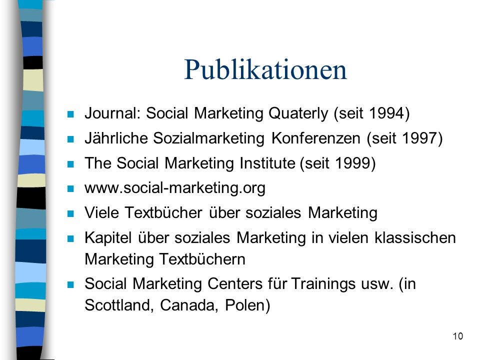 Publikationen Journal: Social Marketing Quaterly (seit 1994)