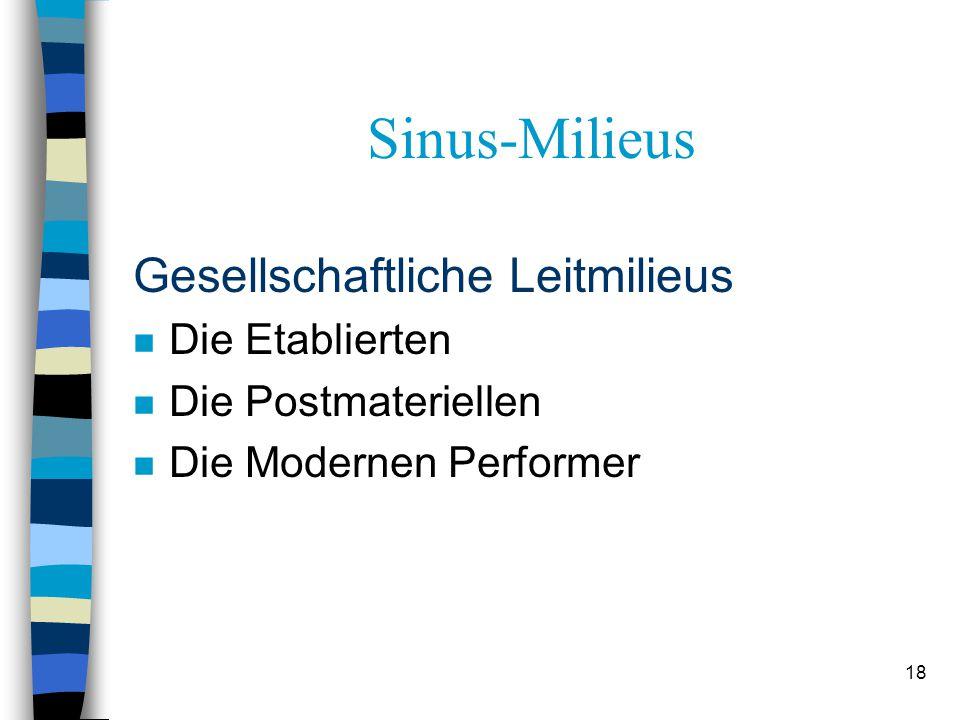 Sinus-Milieus Gesellschaftliche Leitmilieus Die Etablierten