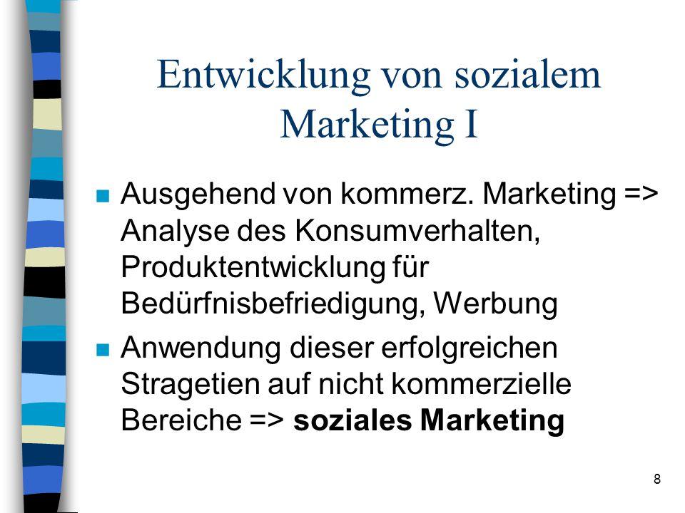 Entwicklung von sozialem Marketing I