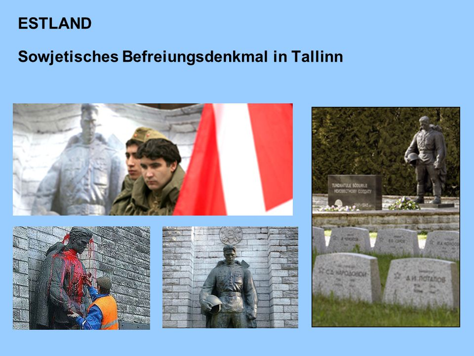 ESTLAND Sowjetisches Befreiungsdenkmal in Tallinn