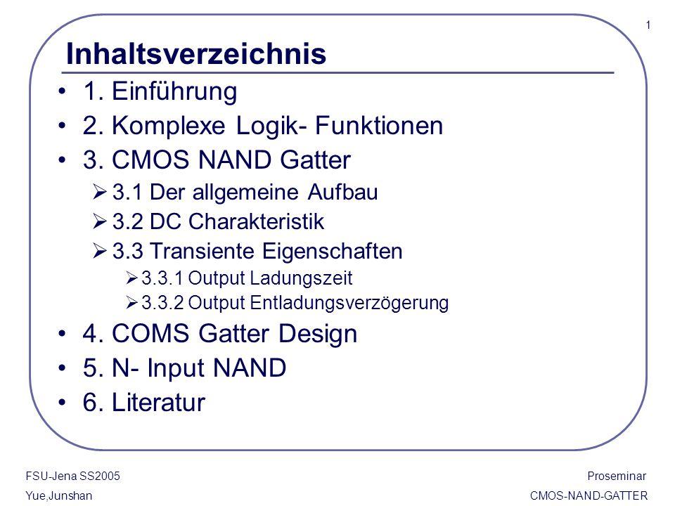 Inhaltsverzeichnis 1. Einführung 2. Komplexe Logik- Funktionen