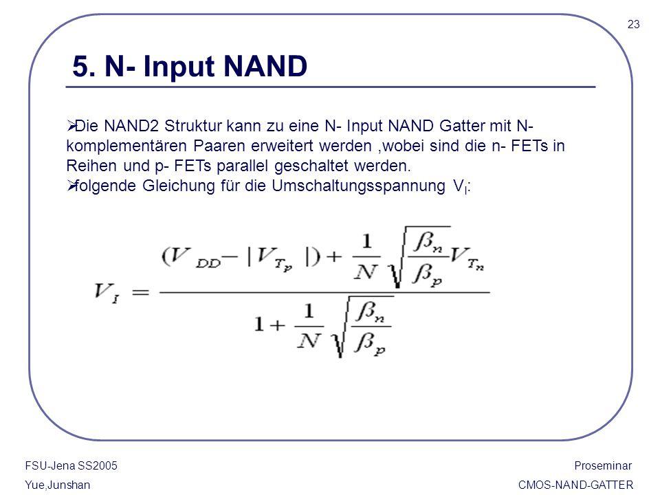 23 5. N- Input NAND.