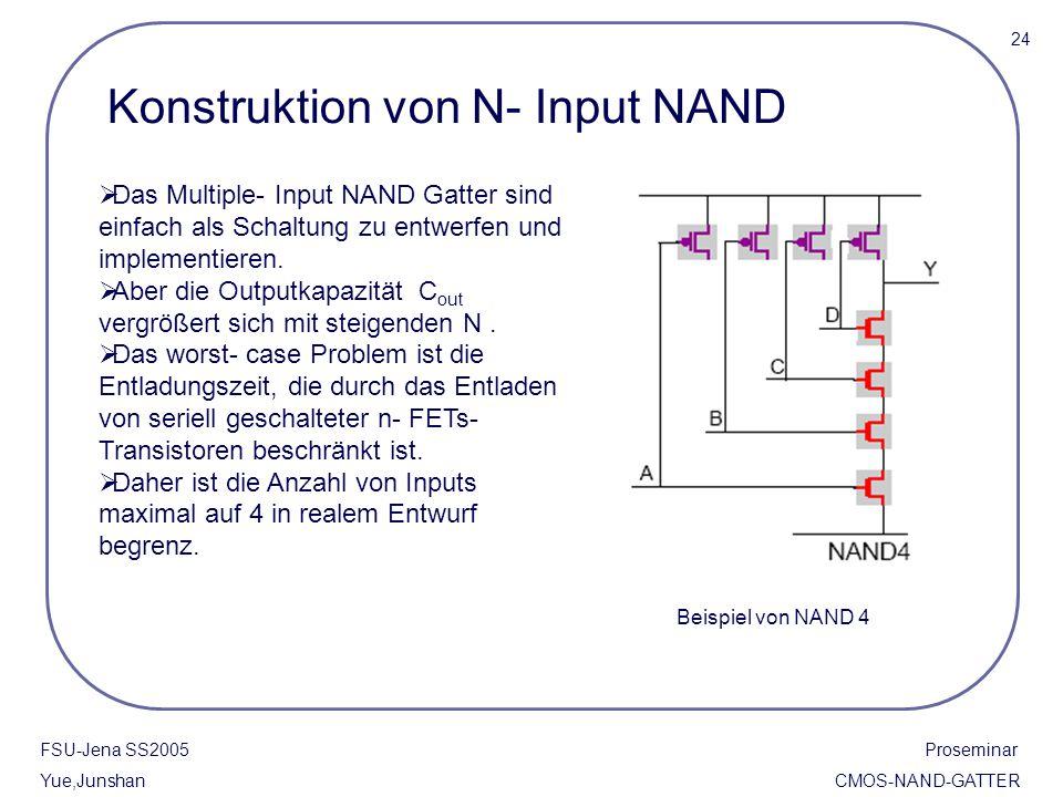 Konstruktion von N- Input NAND