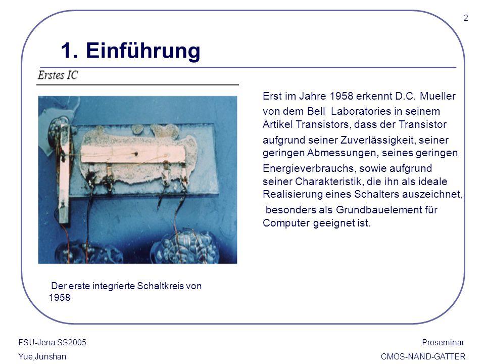 1. Einführung Erst im Jahre 1958 erkennt D.C. Mueller