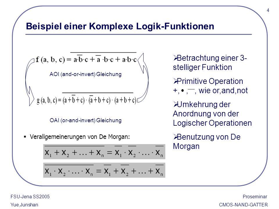 Beispiel einer Komplexe Logik-Funktionen