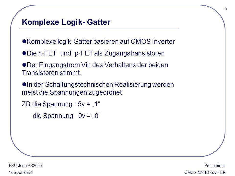 Komplexe Logik- Gatter