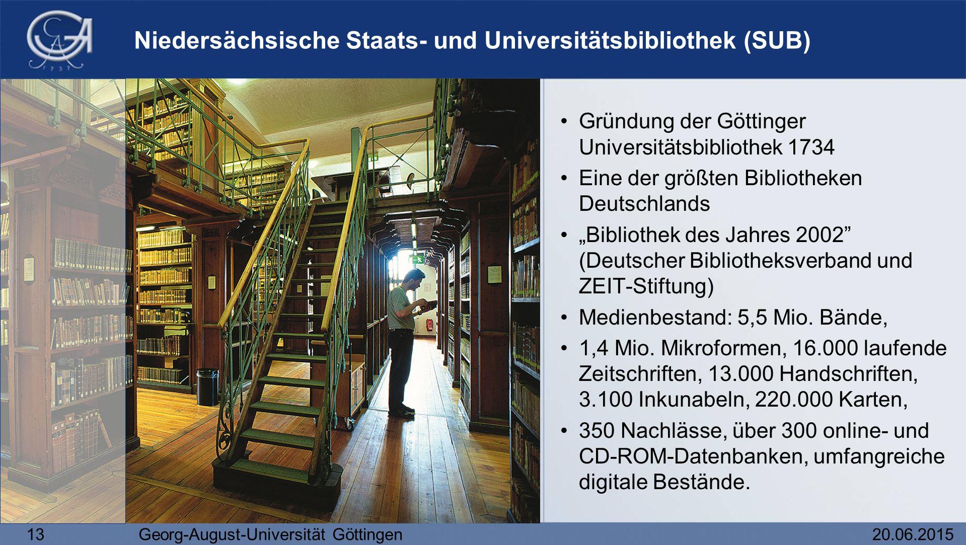 Niedersächsische Staats- und Universitätsbibliothek (SUB)