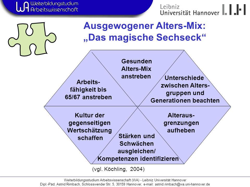 """Ausgewogener Alters-Mix: """"Das magische Sechseck"""