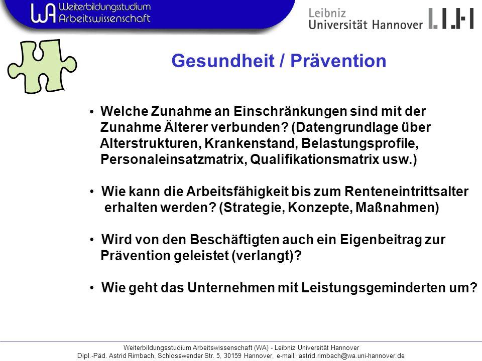 Gesundheit / Prävention