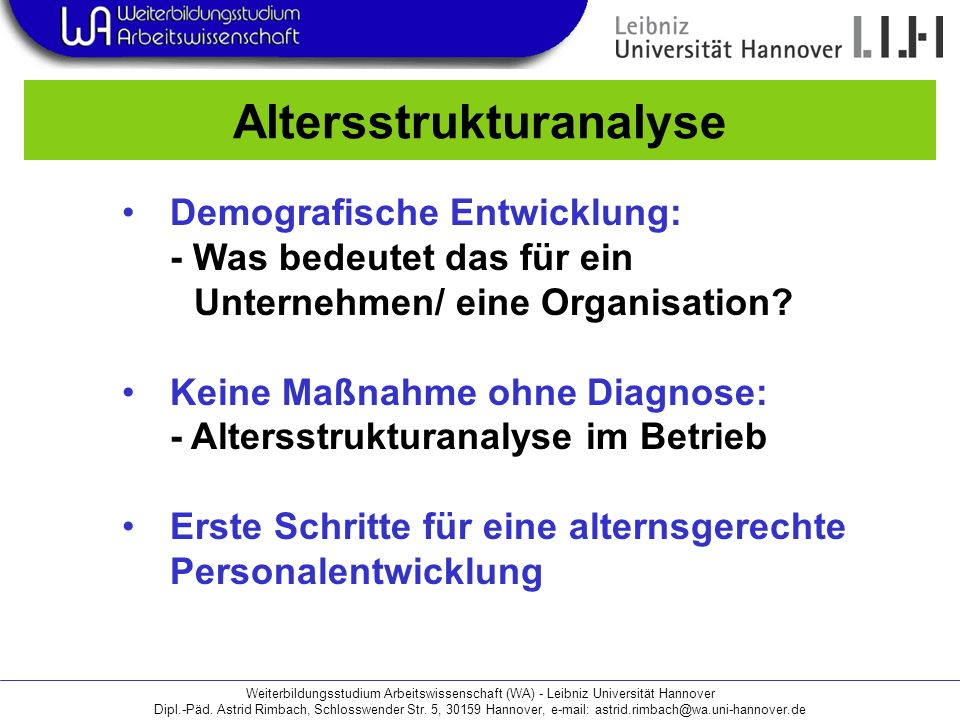Altersstrukturanalyse
