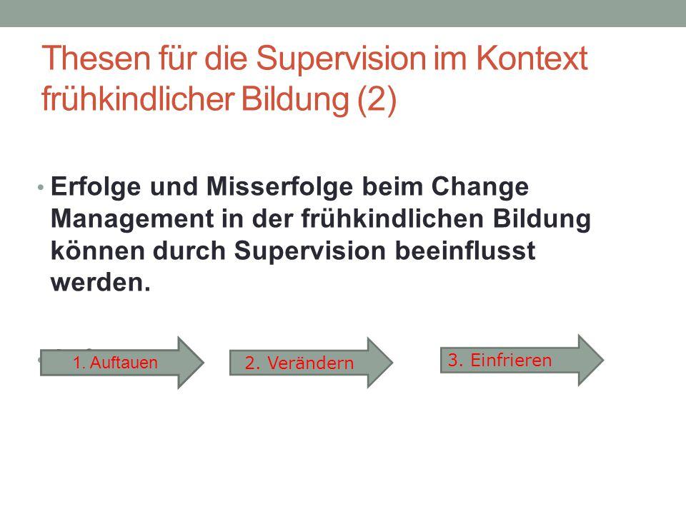 Thesen für die Supervision im Kontext frühkindlicher Bildung (2)