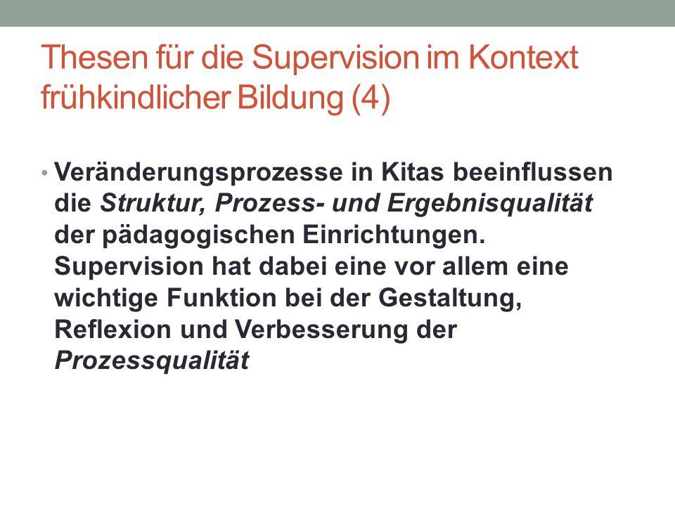 Thesen für die Supervision im Kontext frühkindlicher Bildung (4)