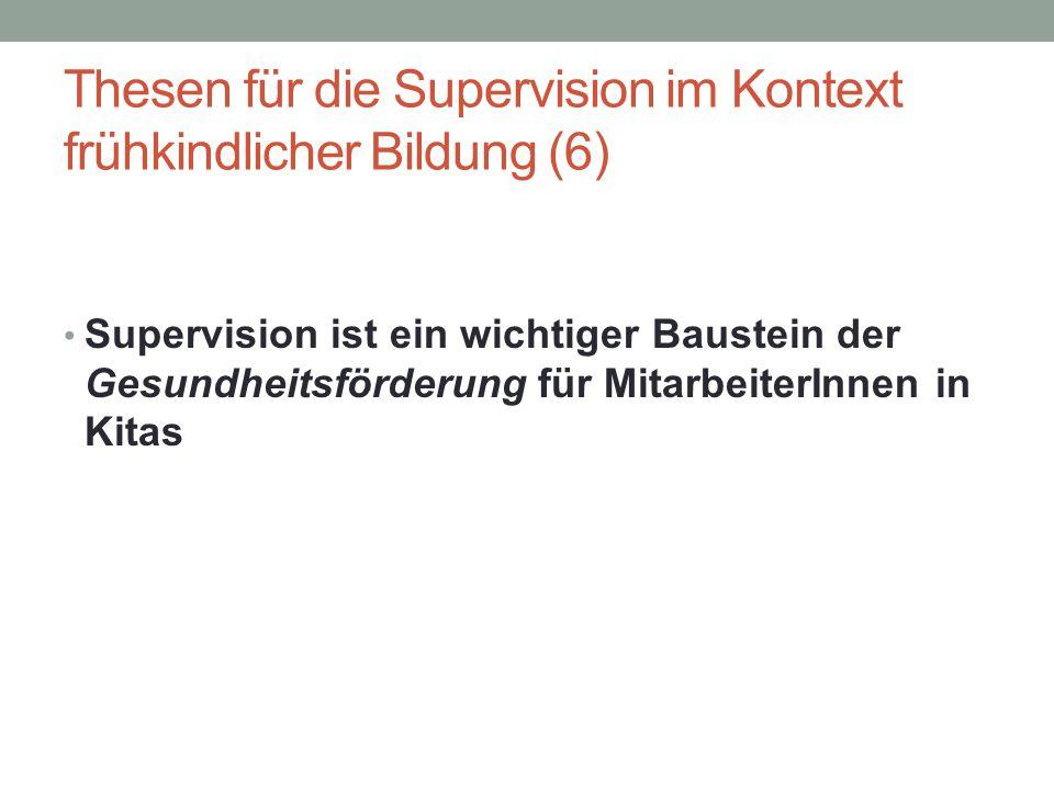 Thesen für die Supervision im Kontext frühkindlicher Bildung (6)