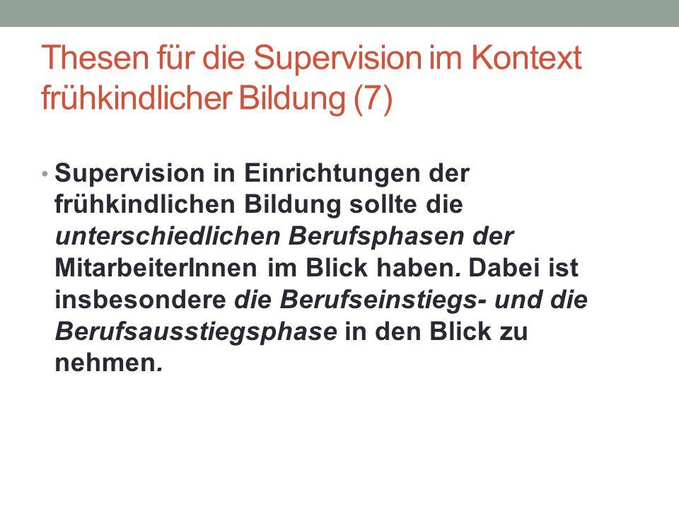 Thesen für die Supervision im Kontext frühkindlicher Bildung (7)