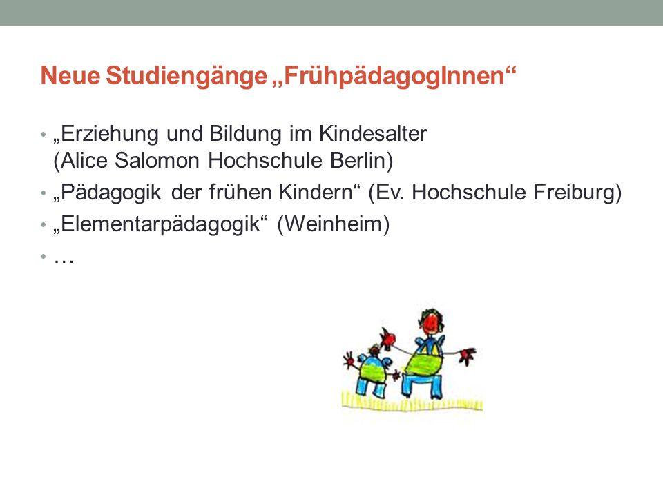 """Neue Studiengänge """"FrühpädagogInnen"""