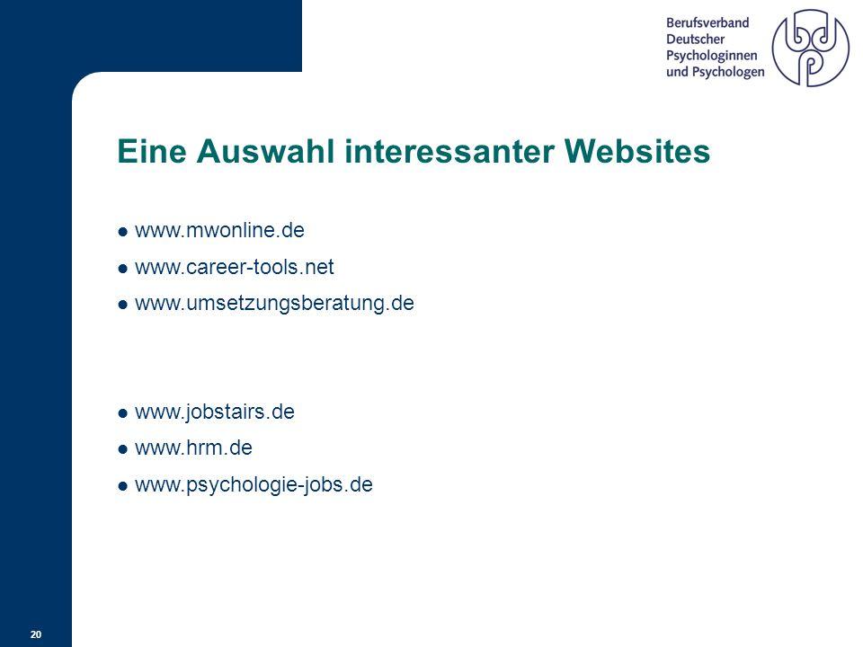 Eine Auswahl interessanter Websites