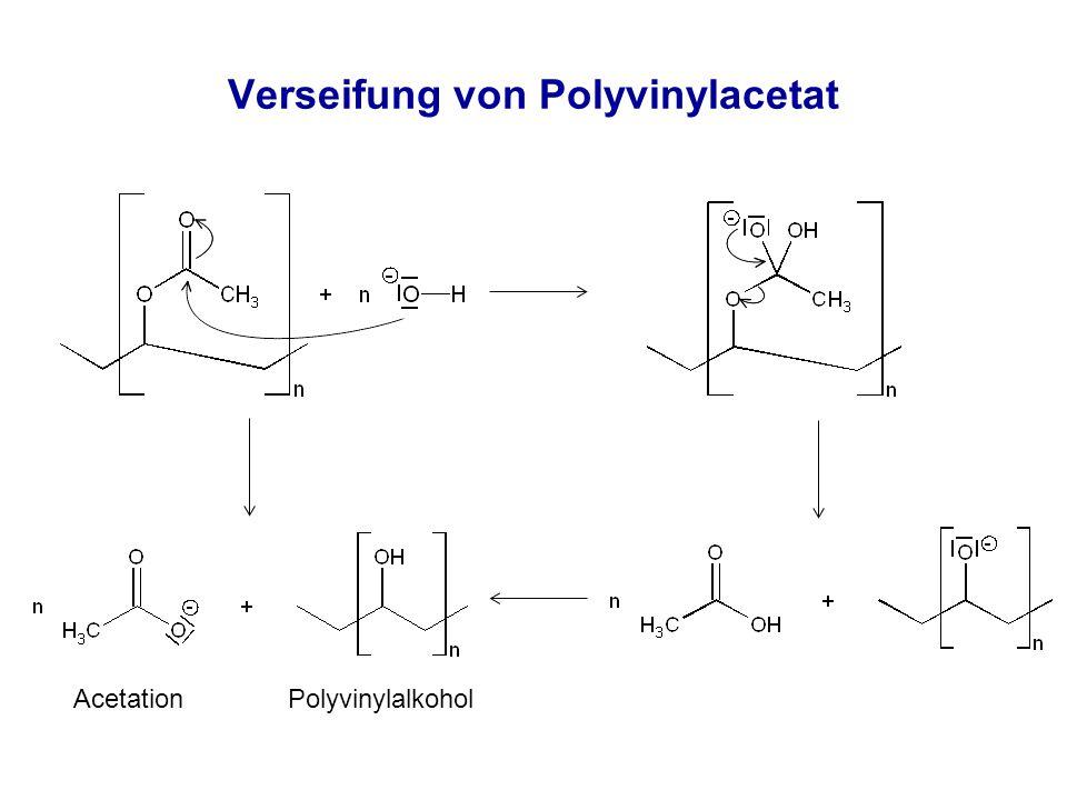 Verseifung von Polyvinylacetat