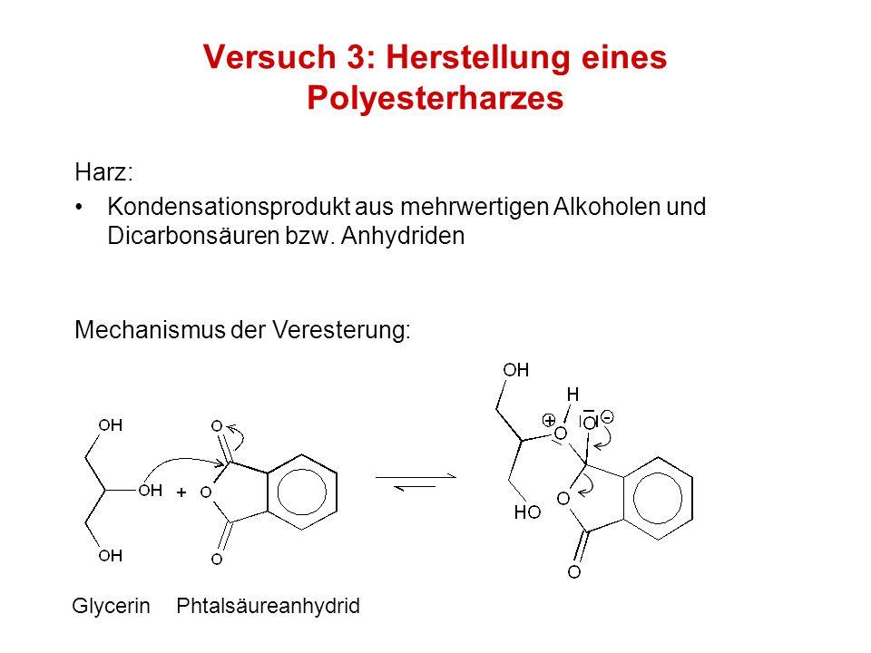 Versuch 3: Herstellung eines Polyesterharzes