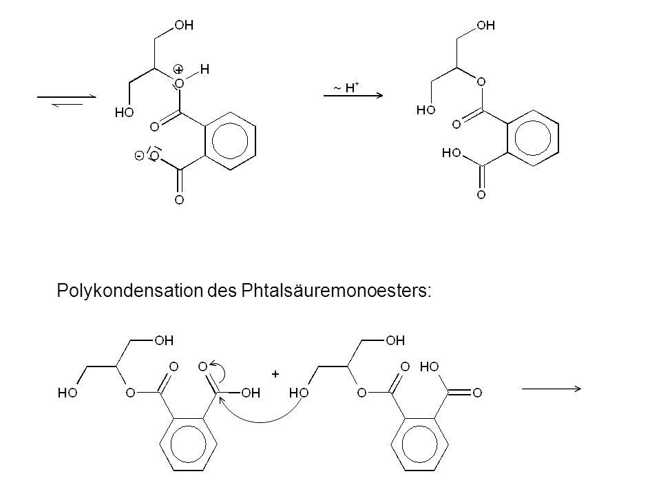 Polykondensation des Phtalsäuremonoesters: