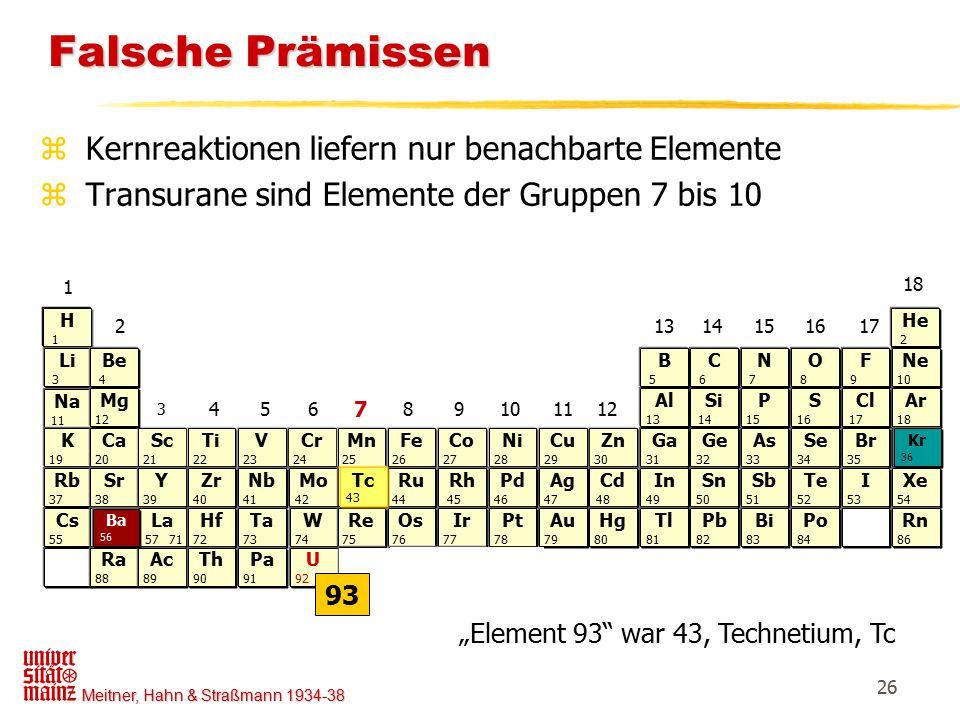 """Element 93 war 43, Technetium, Tc"