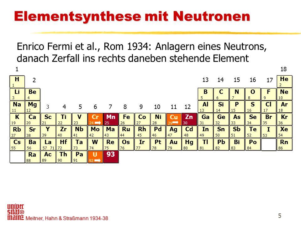 Elementsynthese mit Neutronen