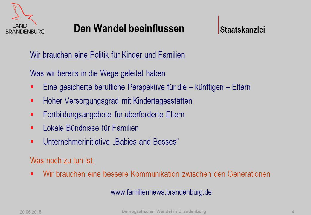 Demografischer Wandel in Brandenburg