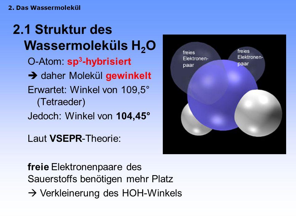 2.1 Struktur des Wassermoleküls H2O
