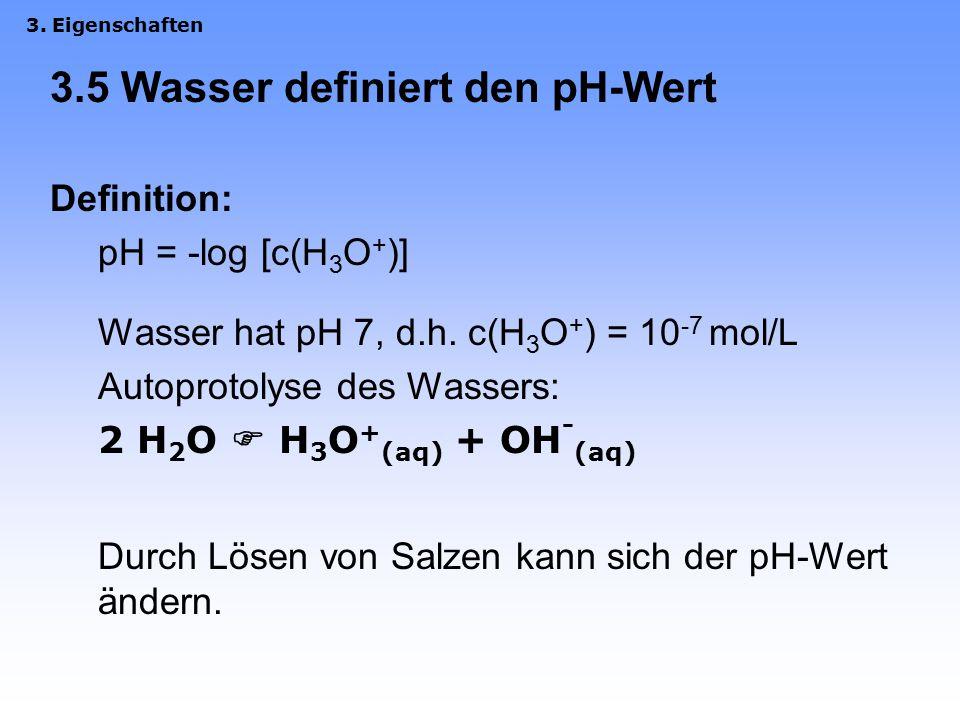 3.5 Wasser definiert den pH-Wert