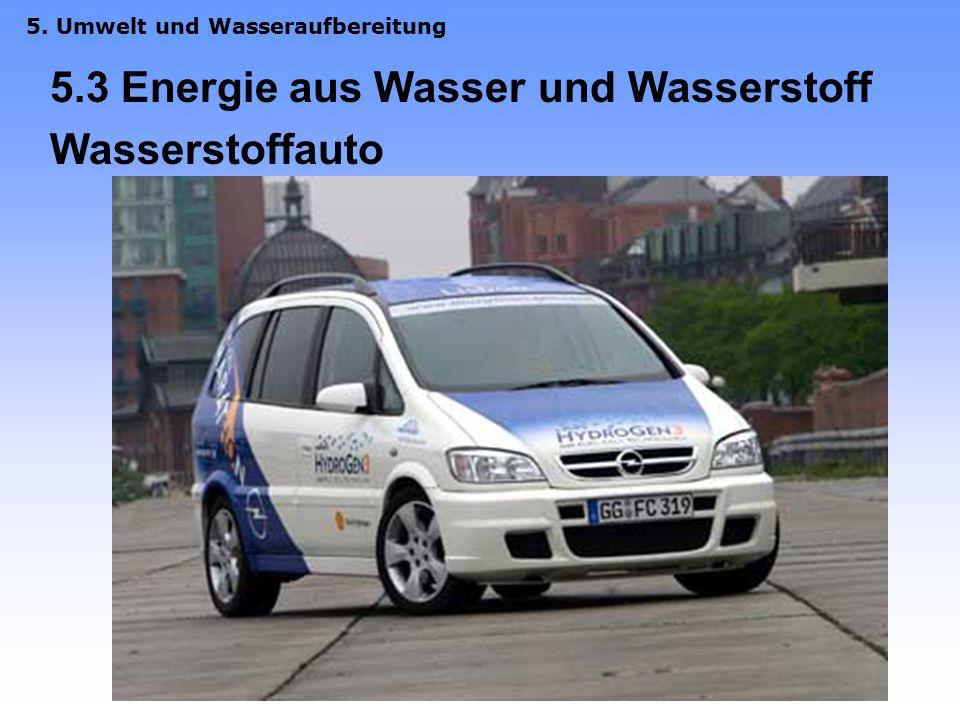 5.3 Energie aus Wasser und Wasserstoff Wasserstoffauto