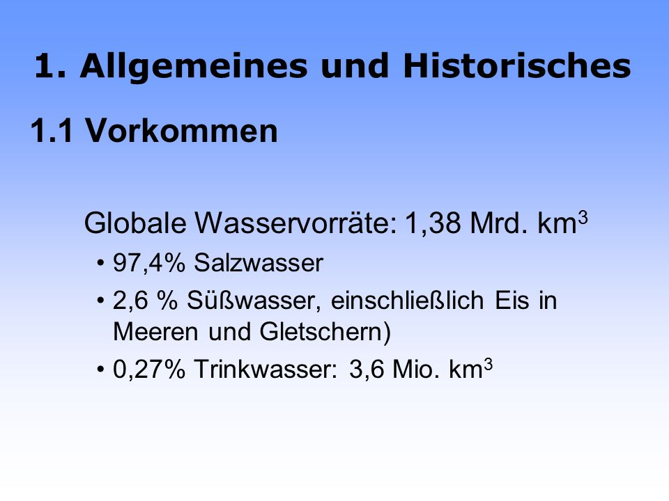 1. Allgemeines und Historisches