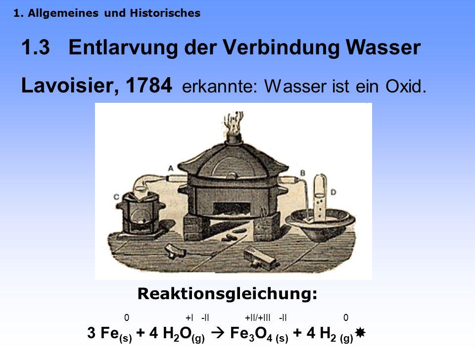 3 Fe(s) + 4 H2O(g)  Fe3O4 (s) + 4 H2 (g)