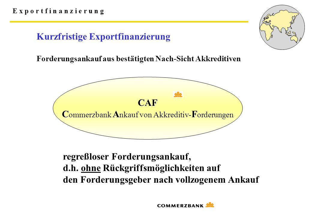 Commerzbank Ankauf von Akkreditiv-Forderungen