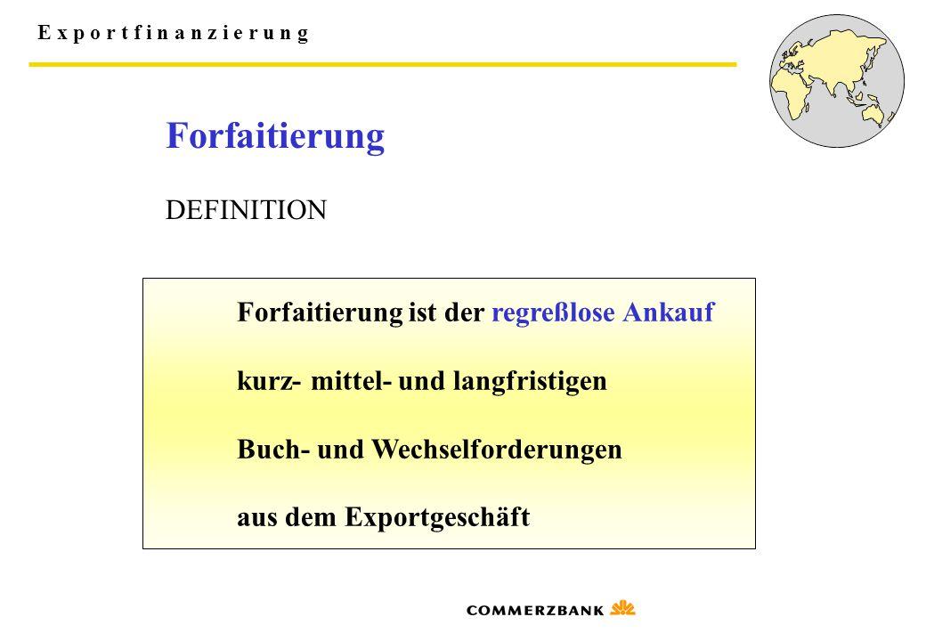 Forfaitierung DEFINITION kurz- mittel- und langfristigen